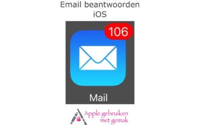 Email beantwoorden iOS 12