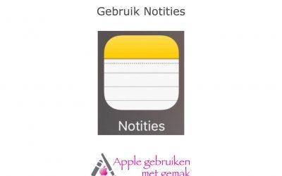 Notities gebruiken iOS 12