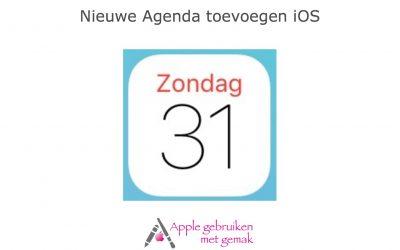 Nieuwe agenda toevoegen iOS 12