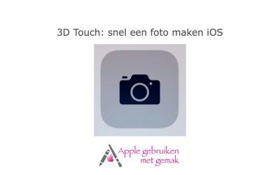 3D Touch: snel een foto maken