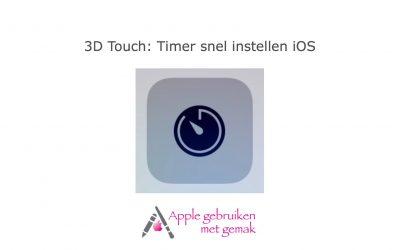 3D Touch: Timer snel instellen