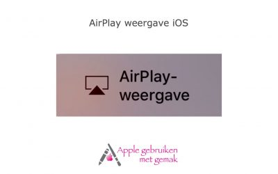 Airplay weergave iOS