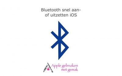 Bluetooth snel aan- of uitzetten
