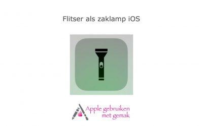 Flitser als zaklamp iOS