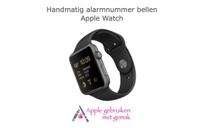 Handmatig alarmnummer bellen Apple Watch