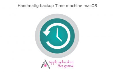 Time Machine backup instellen macOS