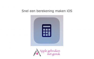 Snel een berekening maken iOS
