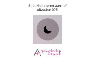 Snel Niet storen aan- of uitzetten iOS
