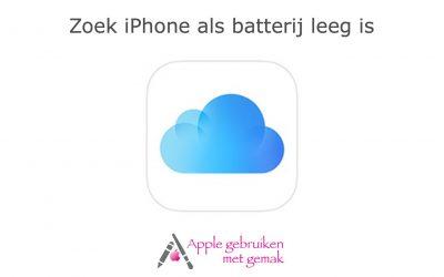 Zoek iPhone als de batterij leeg is
