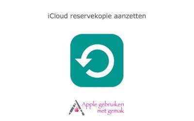 iCloud backup aanzetten