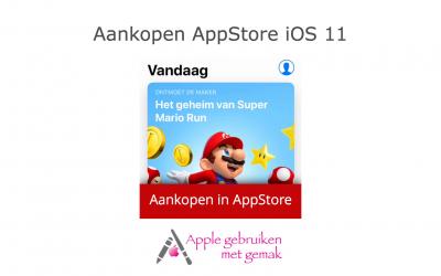 Aankopen Appstore iOS 11