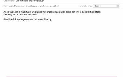 Voeg een link toe aan email mac