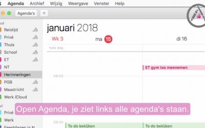 Deel een agenda op je mac