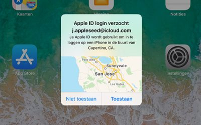 Twee factor authenticatie iOS