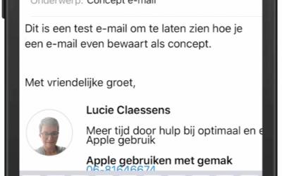 Bewaar een e-mail als concept iOS