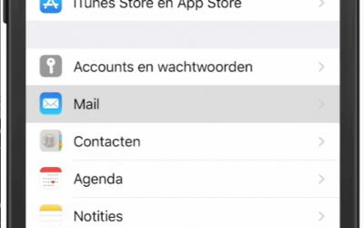 Mail handtekening toevoegen iOS