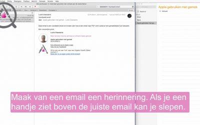Een email als Herinnering instellen op je mac