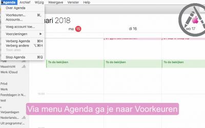 Meldingen van een gedeelde agenda aanpassen mac