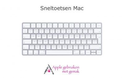 Sneltoetsen op je Mac