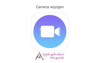 Camera wijzigen