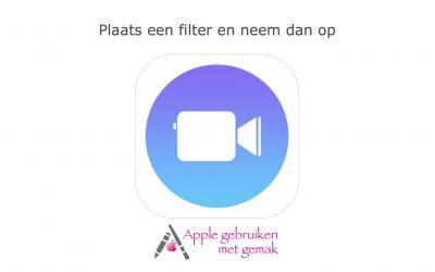 Plaats een filter voor de opname