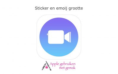 Sticker/label en emoij grootte