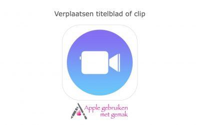 Verplaats een titelblad of clip