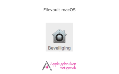 Filevault activeren