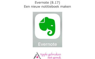 Evernote (8.17) nieuw notitieboek