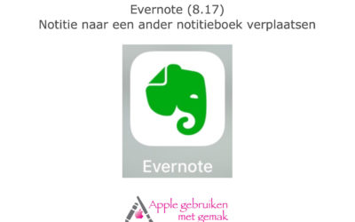 Evernote (8.17) notitie in een ander notitieboek verplaatsen