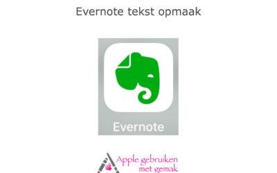 Evernote (8.17) tekst opmaak