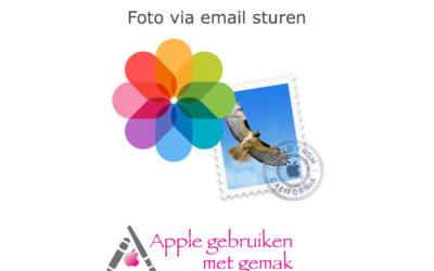 Foto via email sturen iOS 12