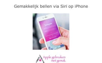 Gemakkelijk bellen via Siri iOS 12